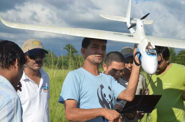 WWF has supported Nepal with training rangers to use unmanned aerial vehicles to monitor for poachers.