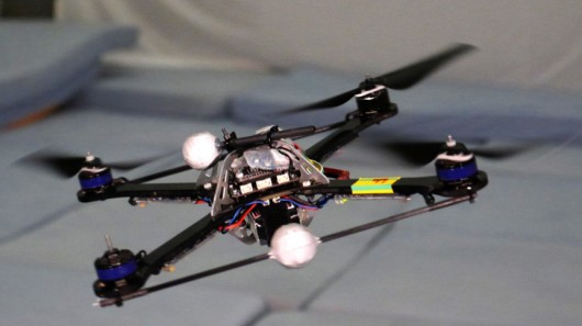 A quadcopter running the algorithm is able to remain in control, even after losing one propeller